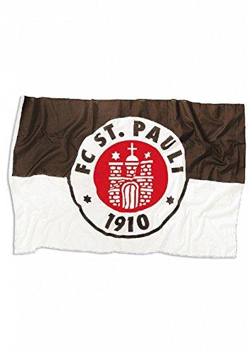 FC. St. Pauli Logo Fahne (30x40cm, Braun/weiß)