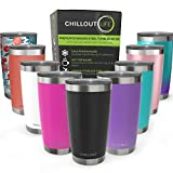 CHILLOUT LIFE 20 oz Stainless Steel Tumbler with Lid & Gift Box - Double Wall Vacuum Insulated...