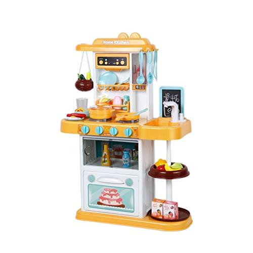 LIUJING Set di giocattoli da cucina Piccolo cuoco unico fingendo di giocare con i giocattoli, il set da cucina, il giocattolo leggero con il suono, il giocattolo dell'acqua circolante, accessori della