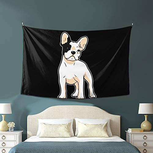 WOAIDY Tapestry Frenchie Bulldog Tapestry Wall Decor Dorm Bedroom Decor 60x40 Inches
