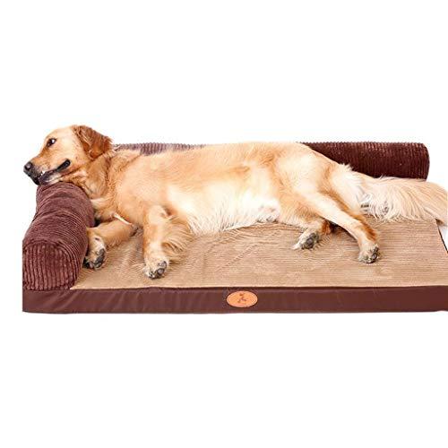 Q-HL Cama para Perros Perrera Completamente Desmontable y Lavable. Gato para Perros. Perro Grande, marrón. (Color : B, Size : M)