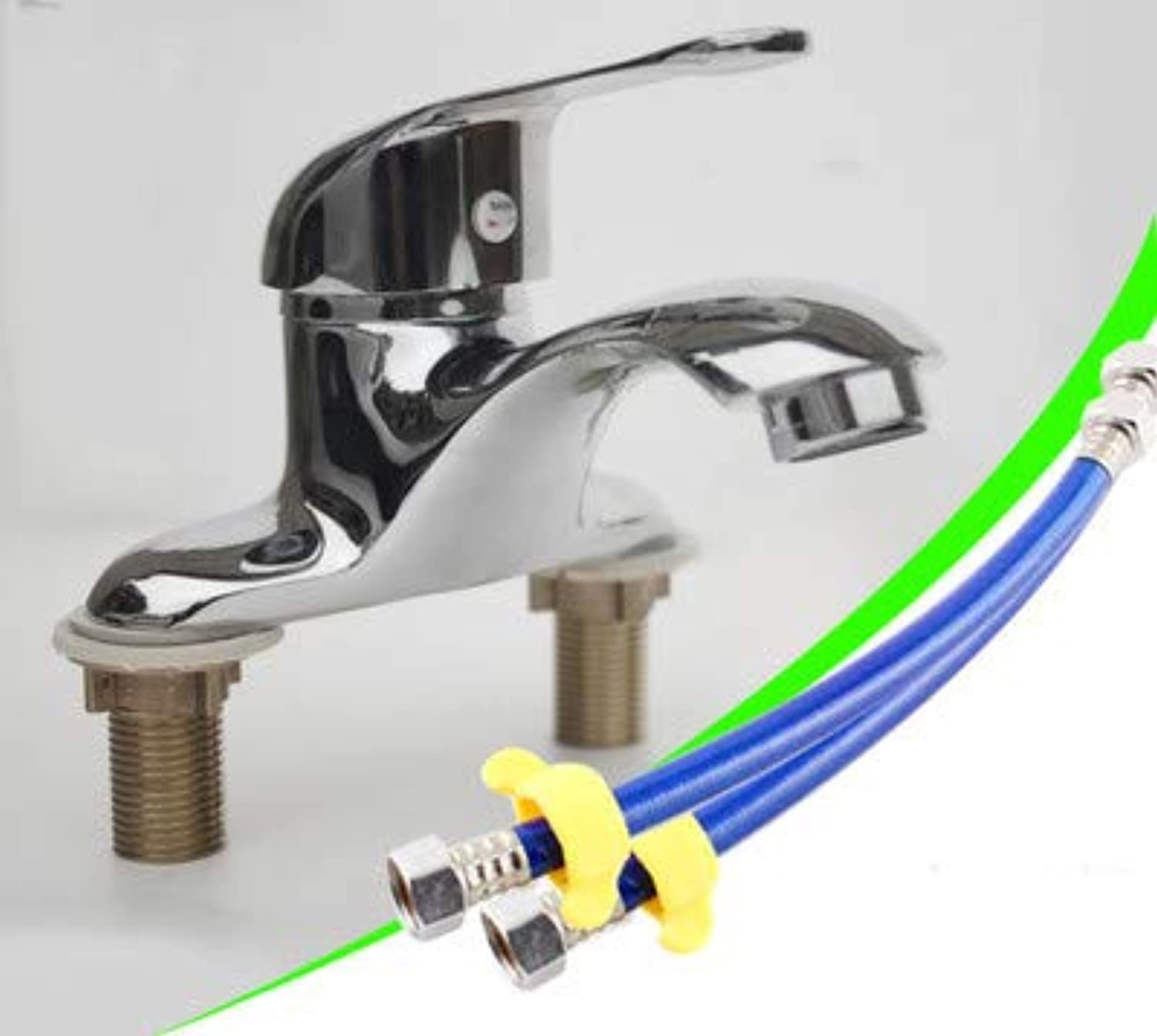Hlluya Professional Sink Mixer Tap Kitchen Faucet Double Hole cold water faucet solid brass,T