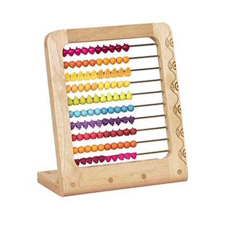 ABCKEY Educational Abacus for Kids Math Games with 100 Colored Beads