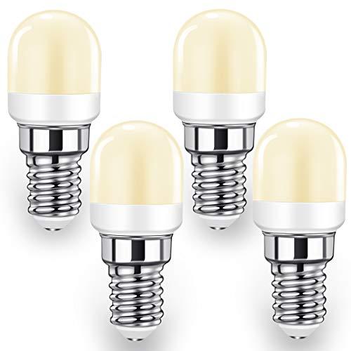 LED Kühlschranklampe E14 LED Lampen, 2W Ersatz für 20W-25W Halogenlampen, Warmweiß 2700K, 140LM, LED Kühlschrankbirne, für Kühlschrank, Dunstabzugshaube, 4er Pack