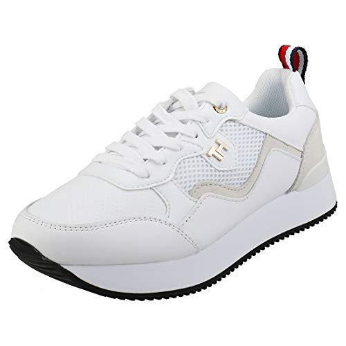 Tommy Hilfiger Damen Annie 7c Sneaker, Beige (White Ybs), 40 EU