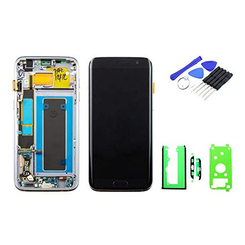kaputt.de Display zwart (5,5 inch) voor Samsung Galaxy S7 Edge | Super AMOLED-scherm incl. DIY reparatieset