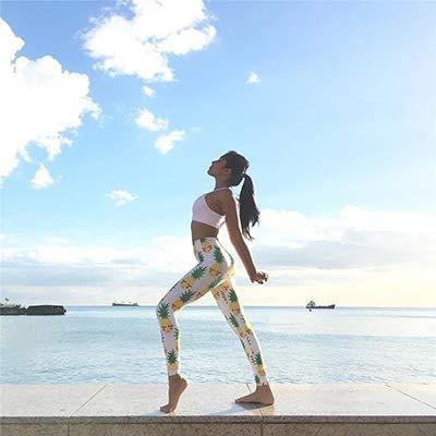 QIHERIYONGPIN Nieuwe Ouder-Kind Gedrukt Yoga Broek Hoge Elastische Meisjes Snelle droge Sport leggings Mama & baby Leuke Gym Workout ademende Leggings Slim Broek