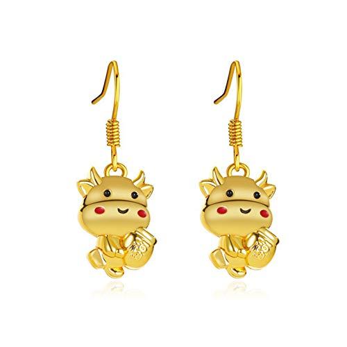 Ruby569y Pendientes colgantes para mujeres y niñas, 1 par de anillos de oreja de dibujos animados encantadores pendientes de gota para mujeres para fiestas - 2
