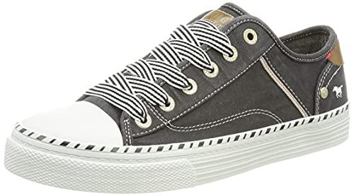MUSTANG 1376-301-9, Sneaker Mujer, Schwarz, 42 EU