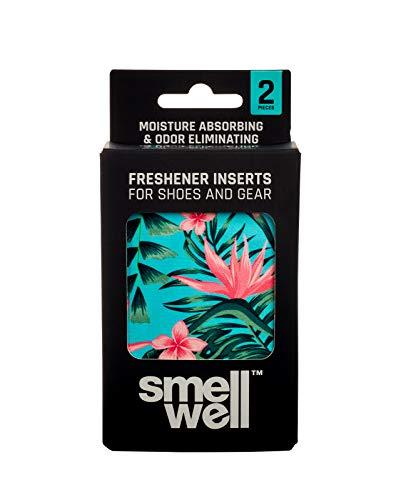 SmellWell Trocknungs- und Erfrischungskissen für Schuhe, Sporttaschen oder sogar das Auto - versetzt mit einem frischen Duft (Tropical Floral)