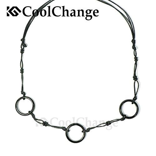 CoolChange Naruto Halskette von Itachi Uchiha mit DREI Ringen aus schwarzem Achat