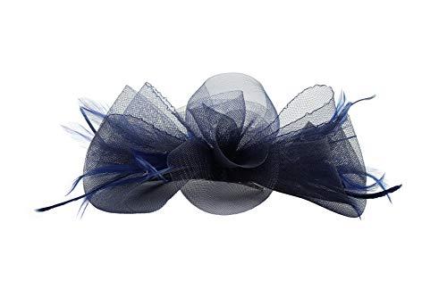 Finecy In Petit bibi en forme de fleur en maille et nœud pour mariage - Bleu - Taille Unique