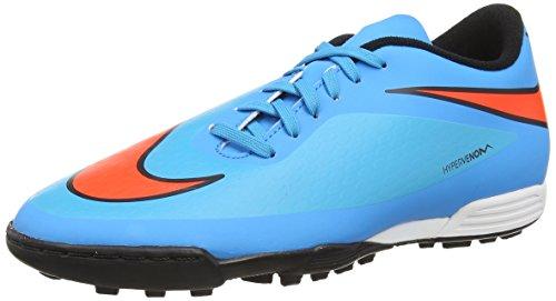 NikeHypervenom Phade Tf - Scarpe da Calcio uomo, Arancione-Celeste, 42.5