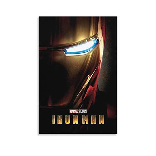 Poster di Iron Man 1 su tela e stampa artistica da parete, 30 x 45 cm