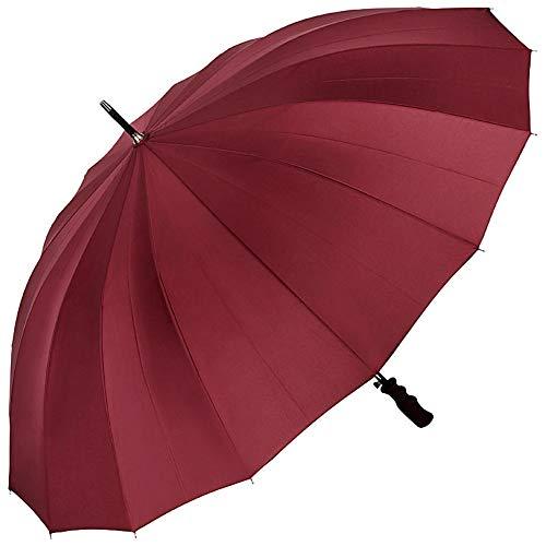 VON LILIENFELD Regenschirm Partnerschirm Auf-Automatik Herrenschirm Gross Stabil Cleo Bordeaux Burgunderrot