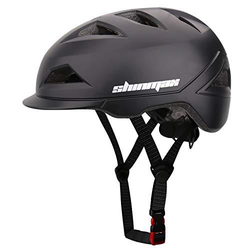 Shinmax Fahrradhelm für Erwachsene,Fahrradhelm MTB mit Wiederaufladbarem USB-Licht,Leichter Fahrradhelm for Herren and Damen,Mountain Road Farradhelm,Einstellbarer Sicherheitsschutz Fahrradhelm57-62CM