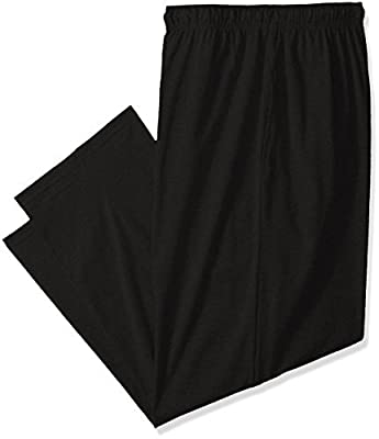 Fruit of the Loom Men's Extended Sizes Jersey Knit Sleep Pant (1-Pack), Black, 2X
