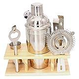 7 unids Barra de acero inoxidable Cóctel Shaker Set Barware Set Fabricación Conjunto con caja de almacenamiento de crock Bar Bar Bar Set (Color : Silver)