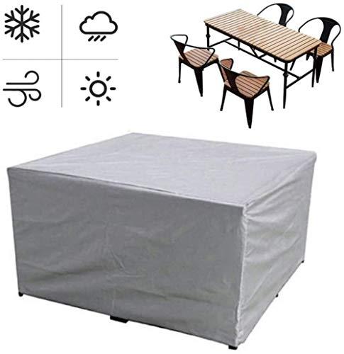 Fundas for muebles Cubierta Cubierta Tabla Patio de muebles, a prueba de agua Protección UV resistente a la decoloración cubierta pesada deber de patio al aire libre jardín Sillas del patio trasero de