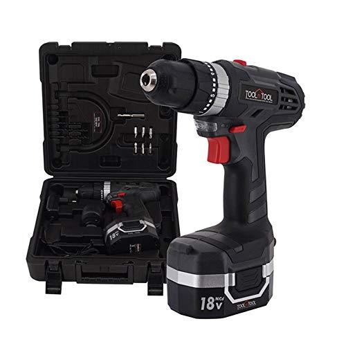TOOLnTOOL 18V Cordless Hammer Electric Drill TNT-REX18S /bit set / 21 Torque / 1,500RPM
