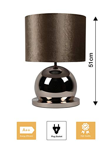 Bazaaronline Tafel Lamp - Tafel Licht - Table Lamp - Bollen Lamp - Eric Kuster Style - Hoogte 51 CM - Ronde Voet - 40W E27 220/240V - Exclusief Lamp (Brons)