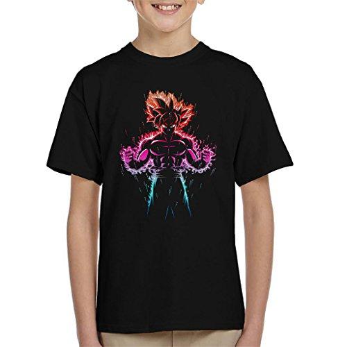 Dragon Ball Z Goku Ultra Instinct Fire Multi Kid's T-Shirt