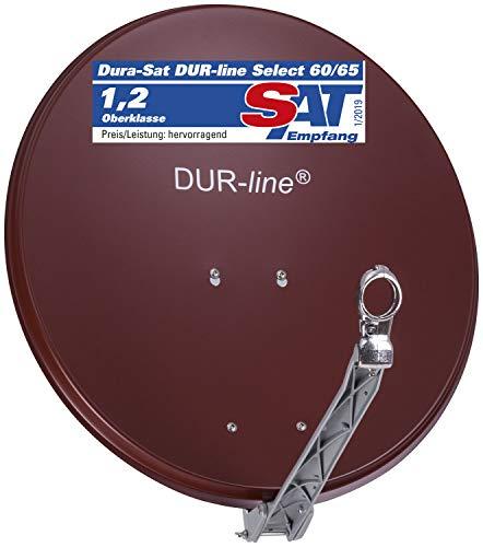 DUR-line Select 75cm x 80cm Alu Satelliten-Schüssel Rot - [ 3X Test SEHR GUT *] Aluminium Sat-Spiegel