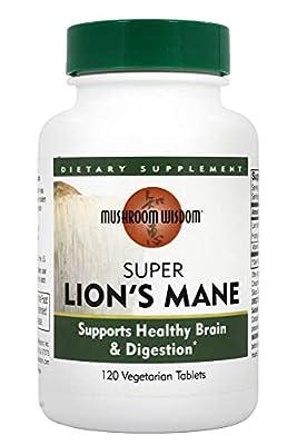 Mushroom Wisdom Super Lion's Mane, 120 Vegetarian Capsules