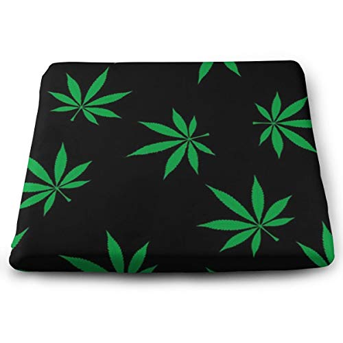 Funny Z Black Weed Chair Seat Cushion Relieves buttock muscles pressure Elasticity Foam Pads for Office Home