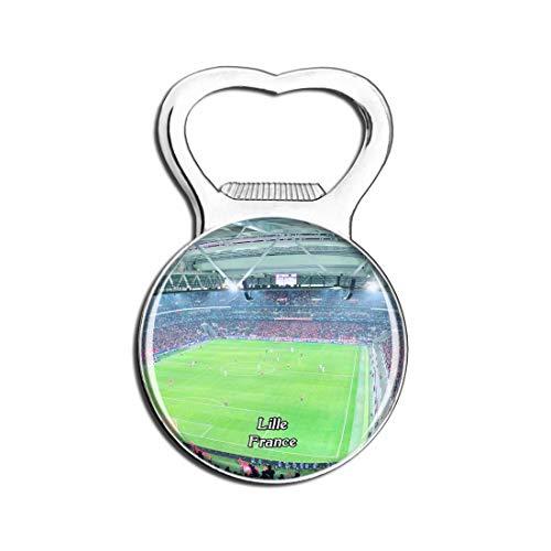 Weekino Lille Frankreich Stade Pierre Mauroy Bier Flaschenöffner Kühlschrank Magnet Metall Souvenir Reise Gift