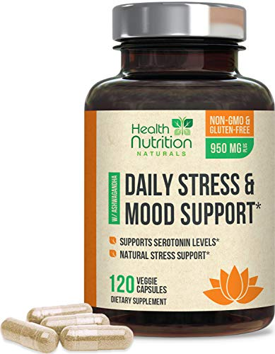 Stress Support Supplement 1000mg, Natural Herbal Formula for Calm, Positive...