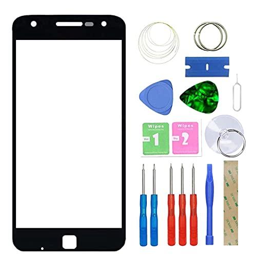 MovTEK Pantalla Repuesto Cristal Tactil Frontal para Motorola Moto Z Play Droid XT1635 XT1635-01 XT1635-02 5.5' con Kit de Herramientas - Negro