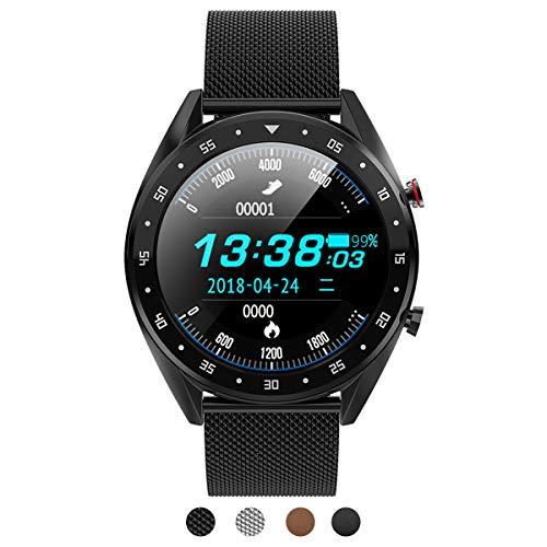 BINDEN Smartwatch L7 Elegante Deportivo IP68 Pantalla Táctil Redonda Compatible con iOS Android…