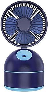 Escritorio con cargo USB ventilador pequeño abanico plegable mini ventilador aerosol humidificador humidificación blanco,Blue