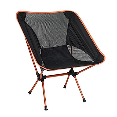 ZWQASP QJSMGZS Silla de Camping, Silla Plegable de Aluminio al Aire Libre Portátil Silla de Pesca Director Silla Moon Silla Picnic Picnic Silla (Color : A)