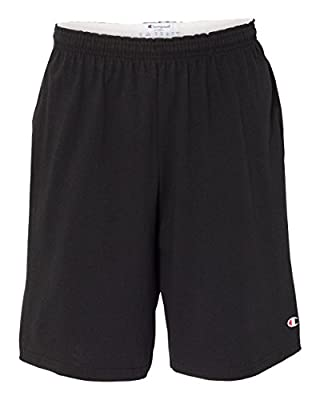 "Champion 9"" Inseam Cotton Jersey Shorts with Pockets M Black"