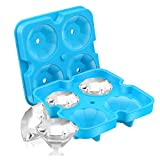 SAWNZC Ice Cube Trays Diamond Ice Cube Molds Reusable Silicone...