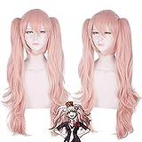 Anime Danganronpa: Trigger Happy Havoc Enoshima Junko Wig Danganronpa Costume Cosplay Resistente al calore Parrucche sintetiche per capelli + Cappuccio