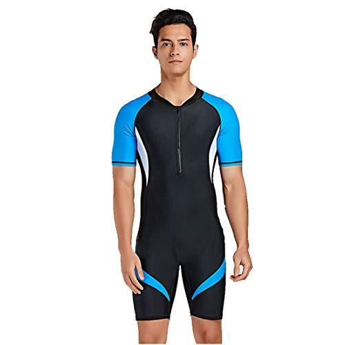 jfhrfged-Zapatos Kurzer Neoprenanzug für Herren, Rücken, Reißverschluss, Taucheranzug, schnelltrocknend, Taucheranzug (blau, XL)