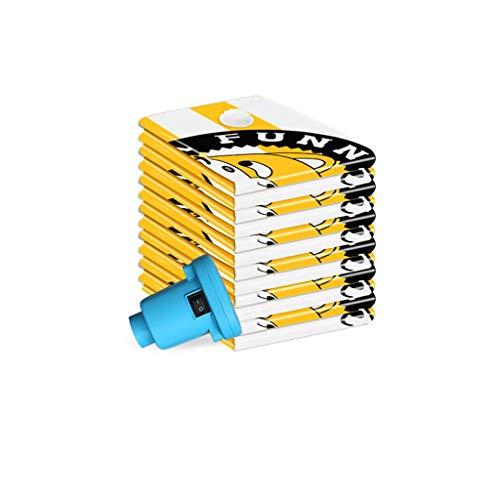 SFF Ropa Almacenaje Bolsa de Ahorro de Espacio Bolsas de sellador de Almacenamiento de vacío Bolsa eléctrica Ropa de Cama 8 x Almohadas Grandes edredones Bolsas de Vacio (Color : Yellow)