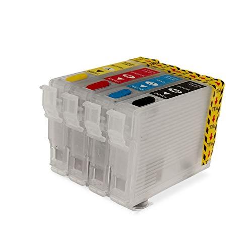 WSCHENG T288 288XL T2881-T2884 Cartucho de Tinta Recargable para EPSON XP-240 XP-330 XP-340 XP-430 XP-434 XP-440 XP-446 Impresoras sin Chip