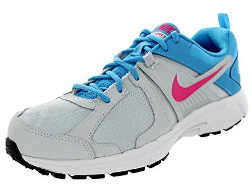 Nike Kids Dart 10 (GS/PS) Pr Pltnm/Vvd Pink/Vvd Bl/White Running Shoe 7 Kids US