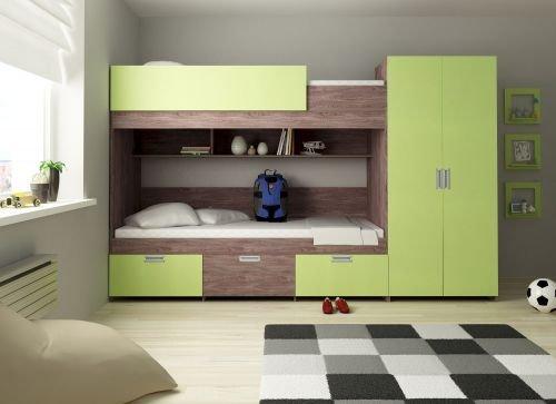 Kinder Komfort Etagenbett Heidelberg Farbe Lime
