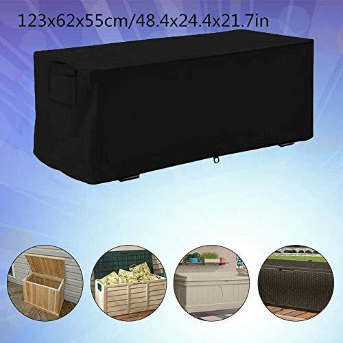 Eghunooye Aufbewahrungsbox Abdeckung Outdoor Deck Box Cover Oxford Wasserdicht Gartenbox Schutzhülle für Aufbewahrungsbox Gartenbox Deckbox Protector (S)