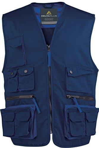 Deltaplus M2GILBMPT Mach2 Arbeitsweste Aus Polyester Baumwolle, Marineblau-Königsblau, Größe S