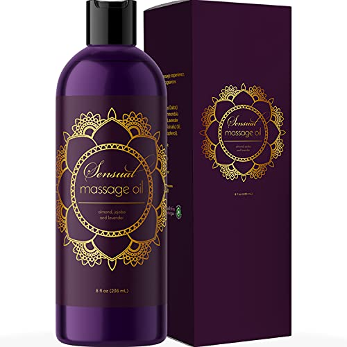 Sensual Massage Oil for Couples - No Stain Lavender Massage Oil for Massage Therapy and Relaxing...