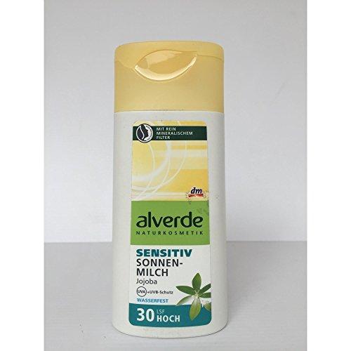alverde NATURKOSMETIK Sonnenmilch Sensitiv LSF 30, 200 ml Flasche