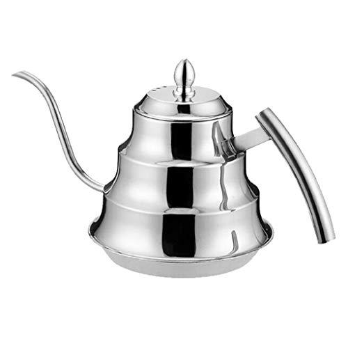JJZXT Acero Inoxidable Tetera - Fine Boca Taza, de Plata del Juego de té con colador de té, 1200ml