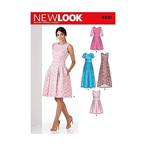 Simplicity Vintage New Look Patterns UN6341A Misses' Dress, A (6-8-10-12-14-16-18)