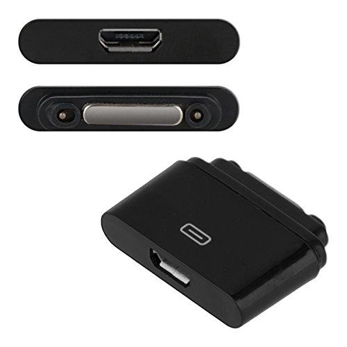 kwmobile Magnetischer USB 2.0 Adapter kompatibel mit Sony Xperia Tablet Z2 /Xperia Z1 /Z1 Compact /Z2/Z3 - in Schwarz